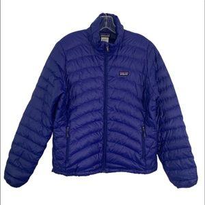 Patagonia women's down sweater jacket blue LARGE